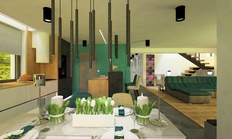 Projekt wnętrz domu w Świętej Katarzynie