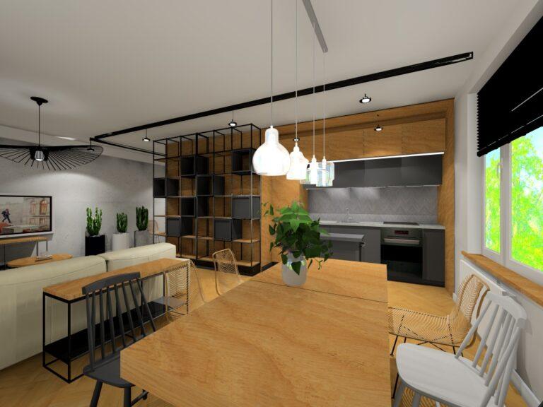 Projekt wnętrz mieszkania na ulicy Prusa we Wrocławiu