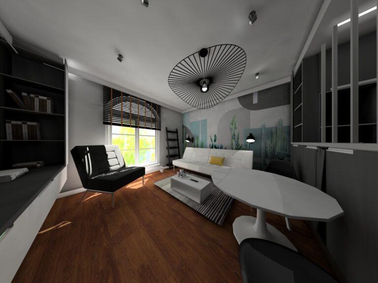 Projekt wnętrz mieszkania na wynajem we wrocławskiej kamienicy
